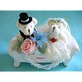 【ウエディングベアのカップルソファーアレンジ】結婚 お祝い プリザーブドフラワー ブライダルギフト ギフト プレゼント ぬいぐるみ お花 ベア くま