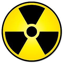 核放射線警告サインステッカーデカール4x4