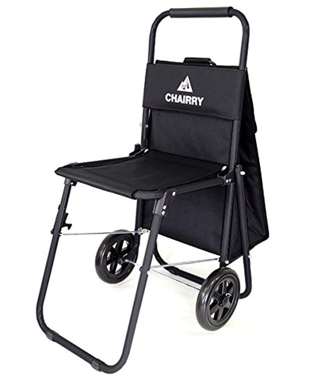 ポットゆでる心理的にCHAIRRY チェアリー チェア&キャリー キャリーカート ブラック