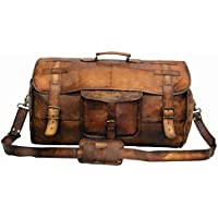 Vintage Leather Bags Luggage Travel Duffel holdall Travel sports Overnight Weekend Leather Bag for gym Sports Cabin