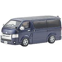 京商オリジナル 1/64 トヨタ ハイエース 2014 ダークブルー 完成品