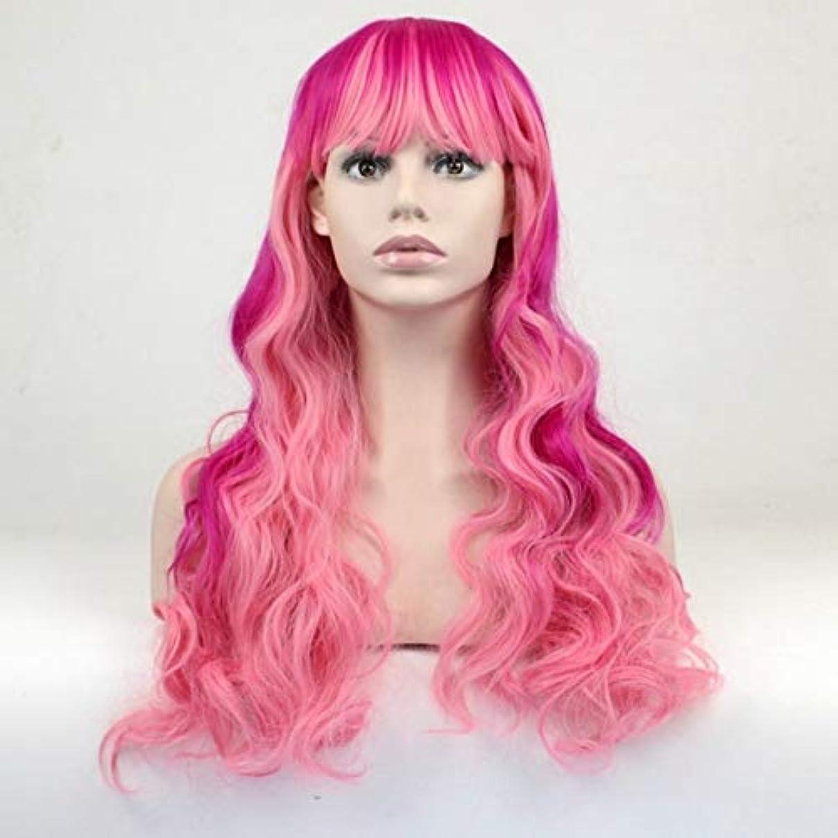 女性のための色のかつら、ポニーテールのロリータカーリーコスプレウィッグ、高密度温度合成ウィッグコスプレヘアウィッグ、耐熱繊維ヘアウィッグ (Size : 27.5in)