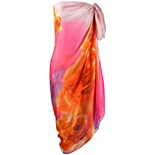 Makroyl Womens Sexy Bohemian Floral Beach Cover up Sarong Wrap Swimsuit Beachwear