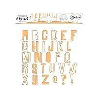 アラジン81057 DIYアルファベットスクエアステンシル