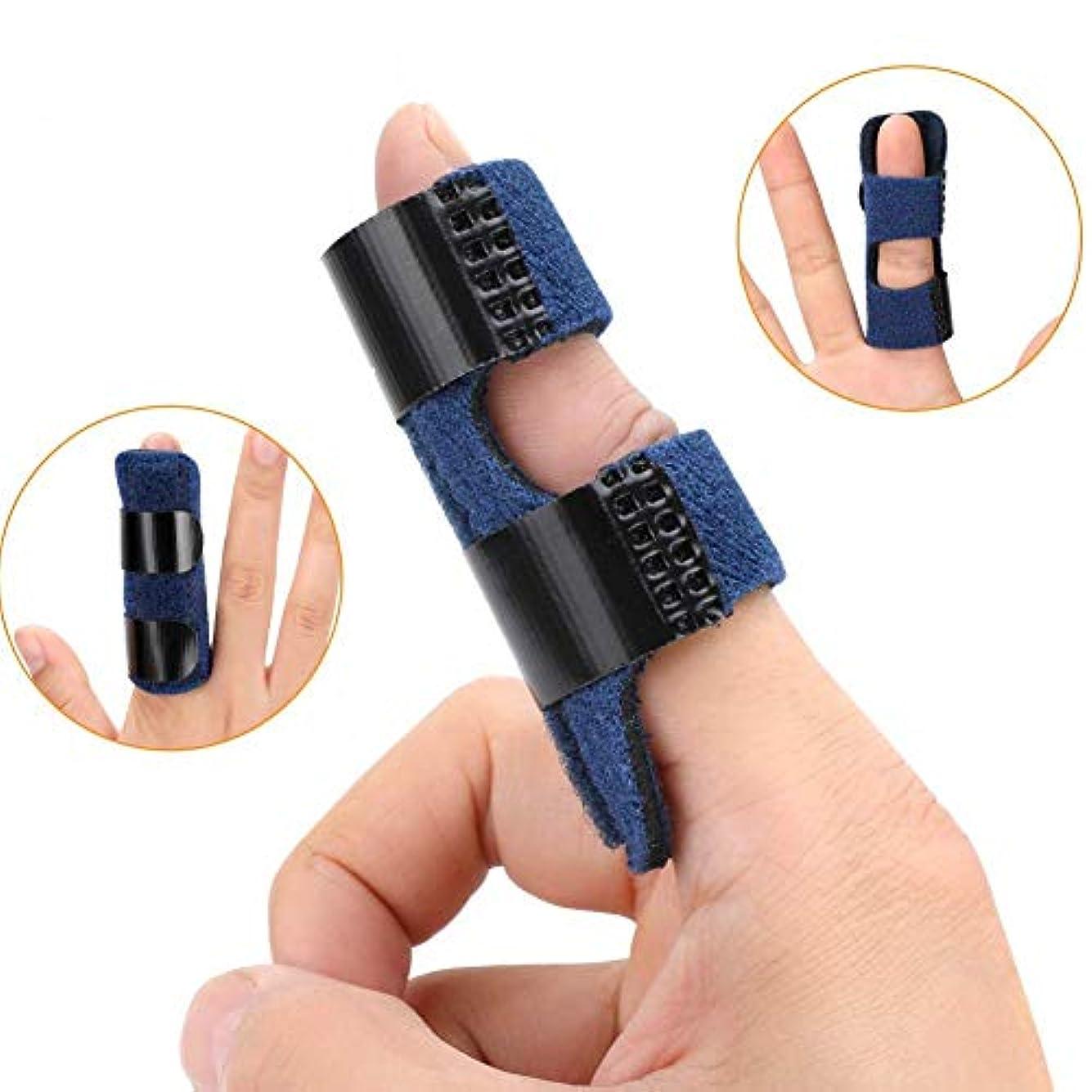 セクションまばたきチョコレート全指用指袖のサポートの拡張スプリント、関節炎ばね指スプリント、指スタビライザー、指、指の骨折、腱リリース&痛みを軽減-Giftフィンガー (Color : 青)