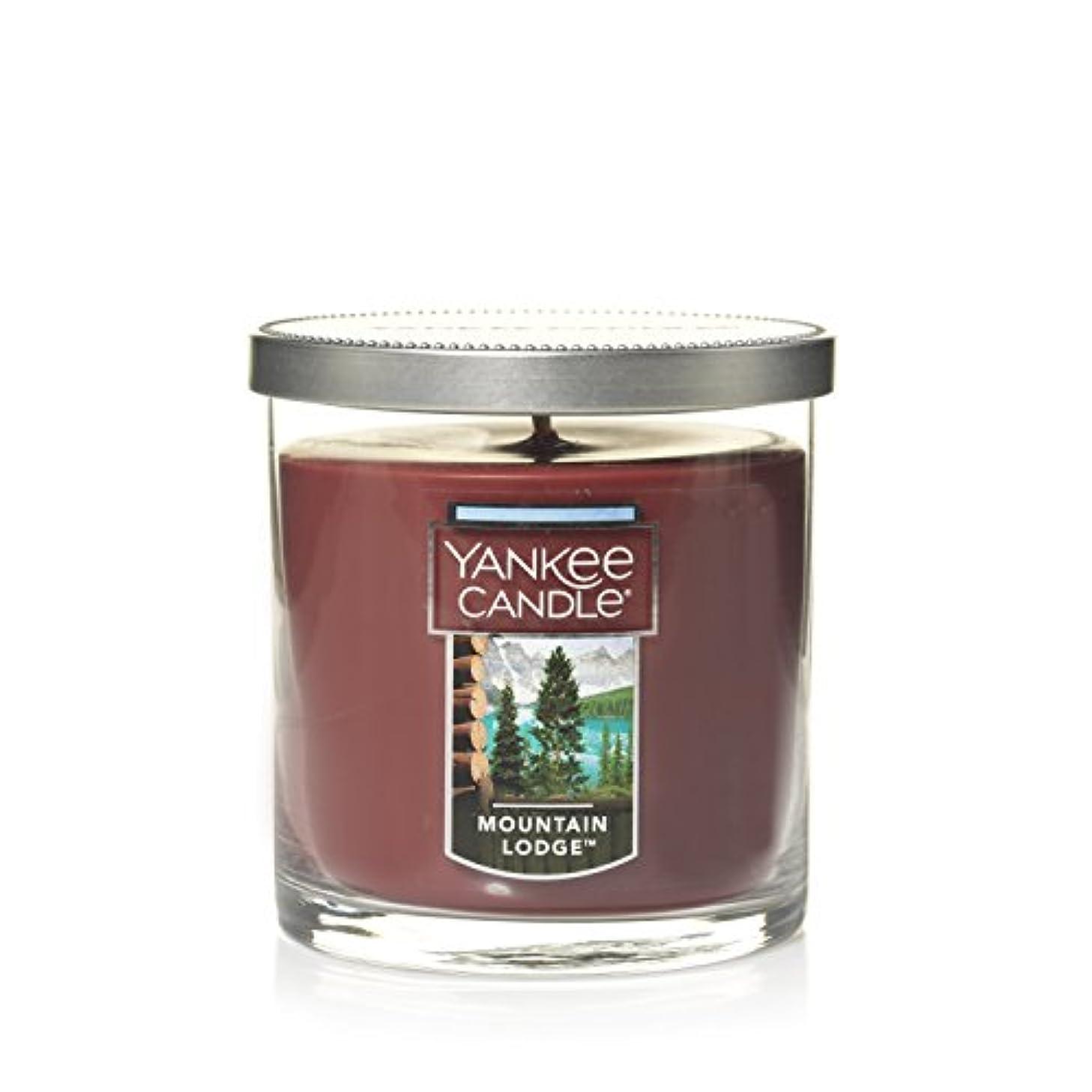 発疹スキム前部Yankee Candle Lサイズ ジャーキャンドル、マウンテンロッジ Small Tumbler Candle ブラウン 1187963Z