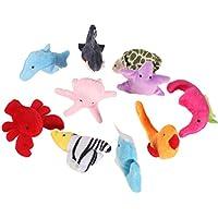 10pcsセット 指人形セット フィンガーパペット 海の動物 家族みんなで指人形 子供大好き
