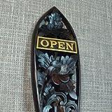 アジアン・バリ木彫り・バリウッド:営業開始で~す!オープンしてまっせ!OPENボードがプルメリアで新登場!