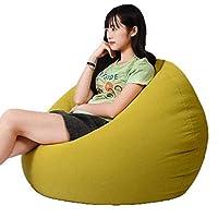パネルをはめられた古典的な豆袋の椅子 - 大きい居間のゲーマーの豆袋、屋内屋外 (色 : 緑, サイズ さいず : L l)
