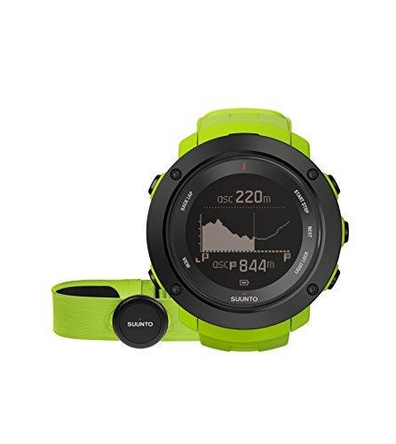 Suunto Ambit3 Vertical Lime (HR) Matrix Display Quartz Watch, Green Silicone Band, Round 50mm Case