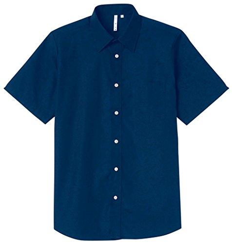 (エイミー)AIMY 00809-SBM 半袖ブロードシャツ(メンズ) 00809-SBM 031 ネイビー 2L