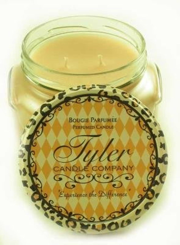 バレル味わう意図するEntitled Tyler 11オンス香りつき2-wick Jar Candle