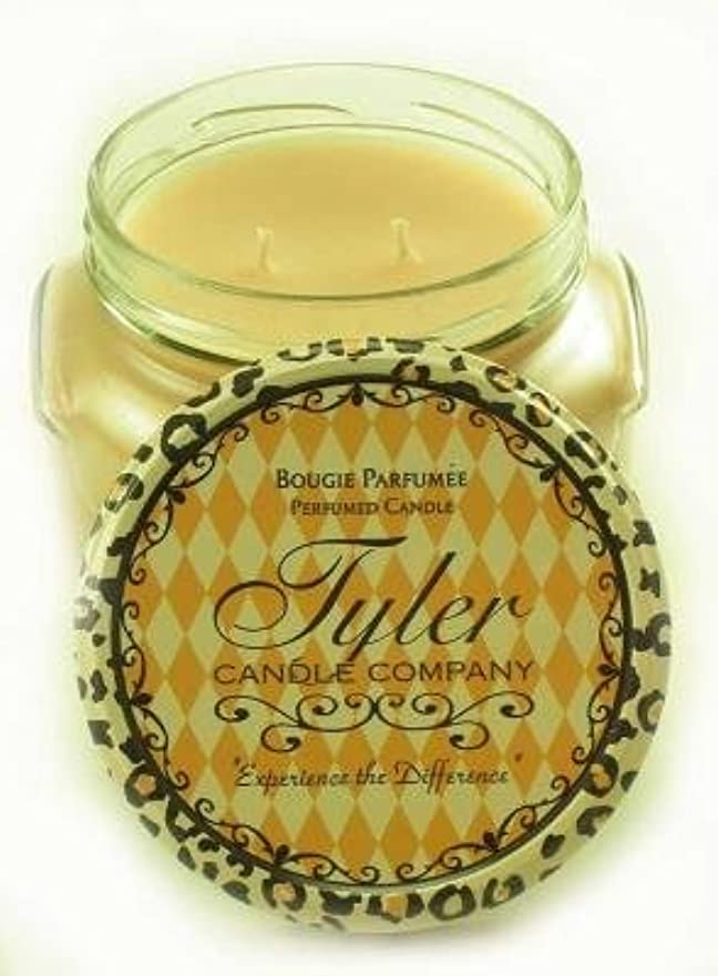優雅警察機械的Entitled Tyler 11オンス香りつき2-wick Jar Candle