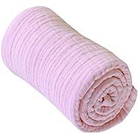 【ノーブランド 品】ベビー コットン 毛布 キルト 押さえつけるラップ バスタオル 通気性 全3色