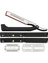 DOVO Solingen - Shavette, straight edge razor, changeable blade, 201081