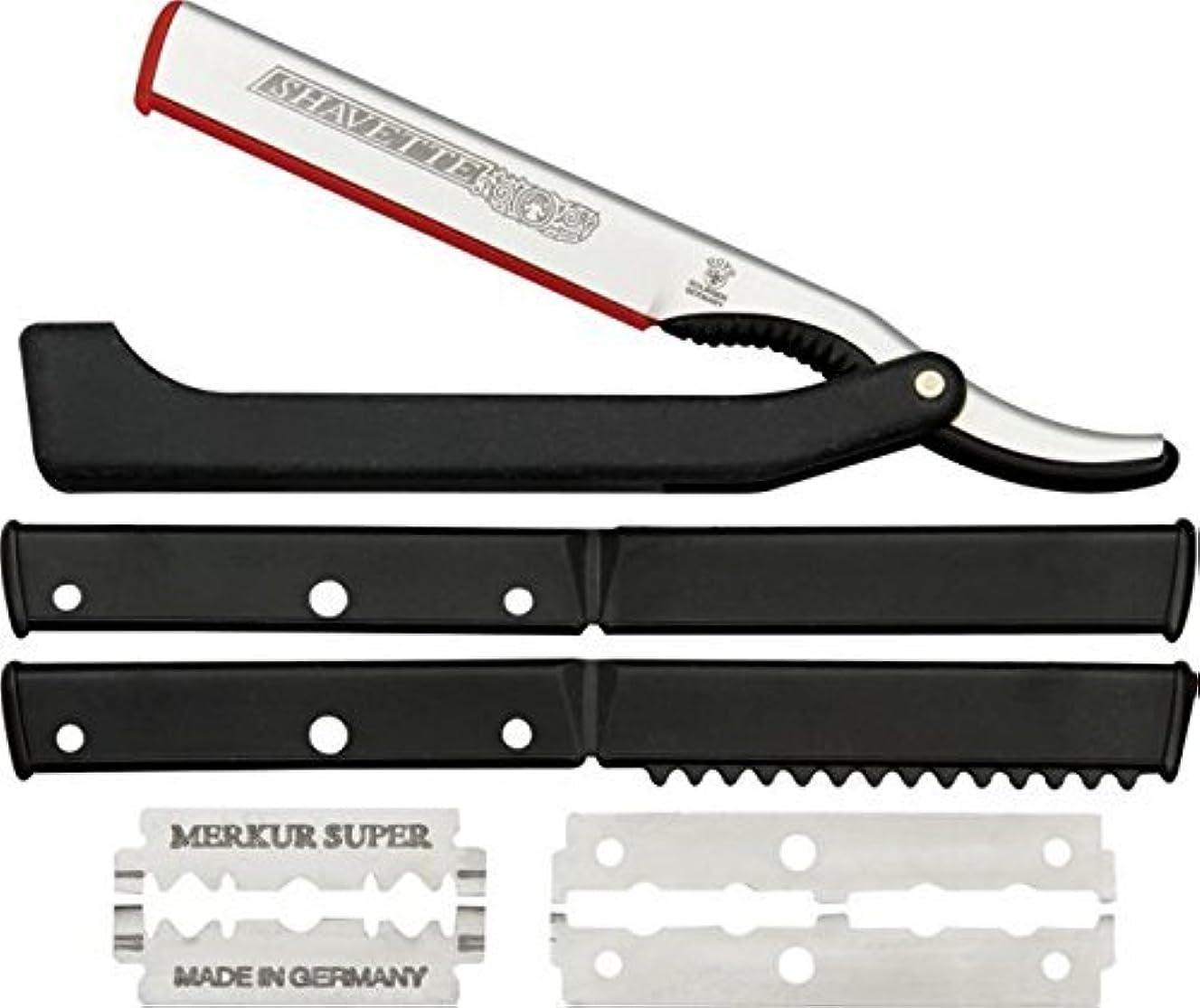 活性化するひねりそれにもかかわらずDOVO Solingen - Shavette, straight edge razor, changeable blade, 201081