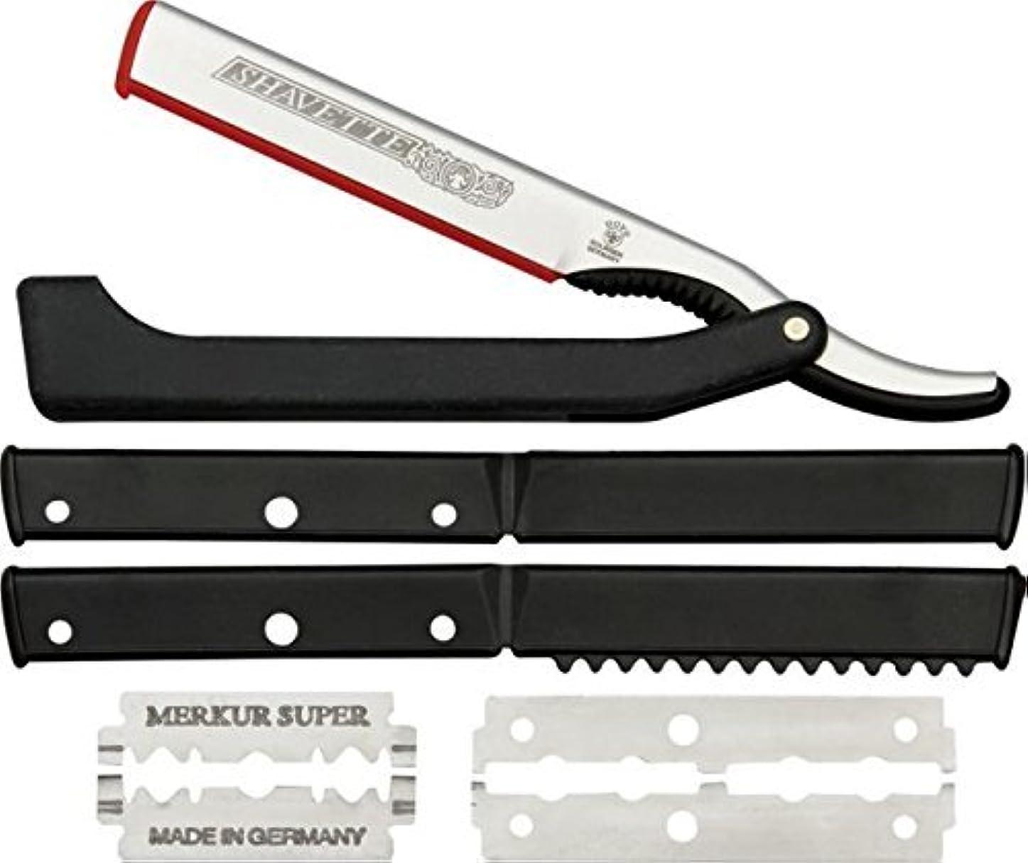 記念品幾何学質素なDOVO Solingen - Shavette, straight edge razor, changeable blade, 201081