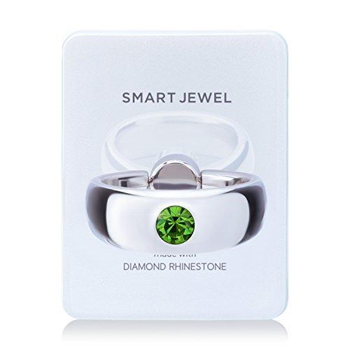 RoomClip商品情報 - [SMART JEWEL] 誕生石 スマホリング 指輪 ダイヤモンド ラインストーン ブランド 薄型 宝石 便利 スマホ リング おしゃれ かわいい 指輪型 指輪風 ホールドリング パワーストーン スマホスタンド スマホホルダー c003 17SJ6-1-WHTPERza