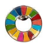 【ALEC】SDGs ピンバッジ 表面が丸みのあるタイプ 台紙無し ケース無し 国連本部限定販売 日本未発売 正規品