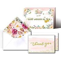 サンキューカード ギフトカード 感謝 ありがとう 誕生日 父の日 母の日 お礼 メッセージカード クラフト グリーティングカード 封筒付き シールステッカー付き 48枚セット/22枚セット (48)