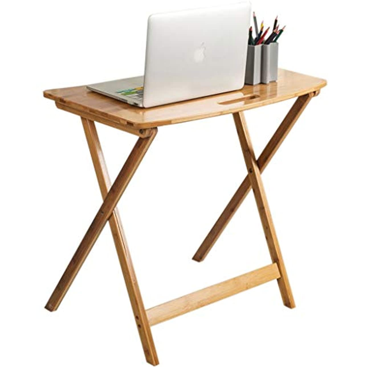 あえてタンザニアコットンWangYi 折りたたみ式テーブル- 折りたたみ式コンピュータデスク、ファミリーシンプルデスク、ダイニングテーブル (色 : 原色, サイズ さいず : 65x37x65cm)