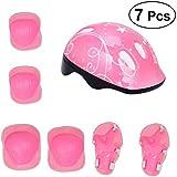 VORCOOLキッズプロテクティブギア自転車ヘルメット肘手首膝パッド子供バイクアクセサリー(ピンク)