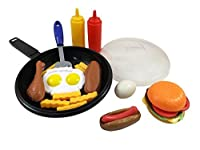 Liberty Imports Fast Food Cooking Pan 25 Piece Kitchen Play Food Set for Kids (Cheese Burger, Hotdog, Chicken, & more) by Liberty Imports