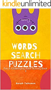 Words Search Puzzles: Fun & Challenging Adult Activity Book (English Edition)