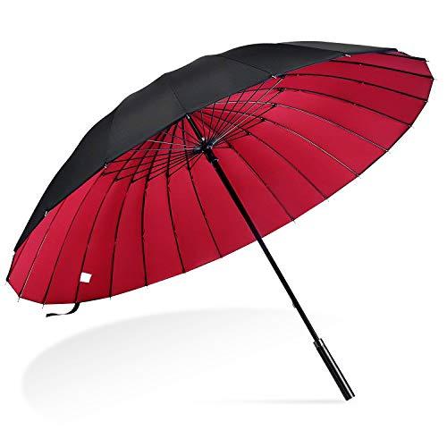 傘 雨傘 AISITIN 傘メンズ 耐風傘 2重PG布 長傘...