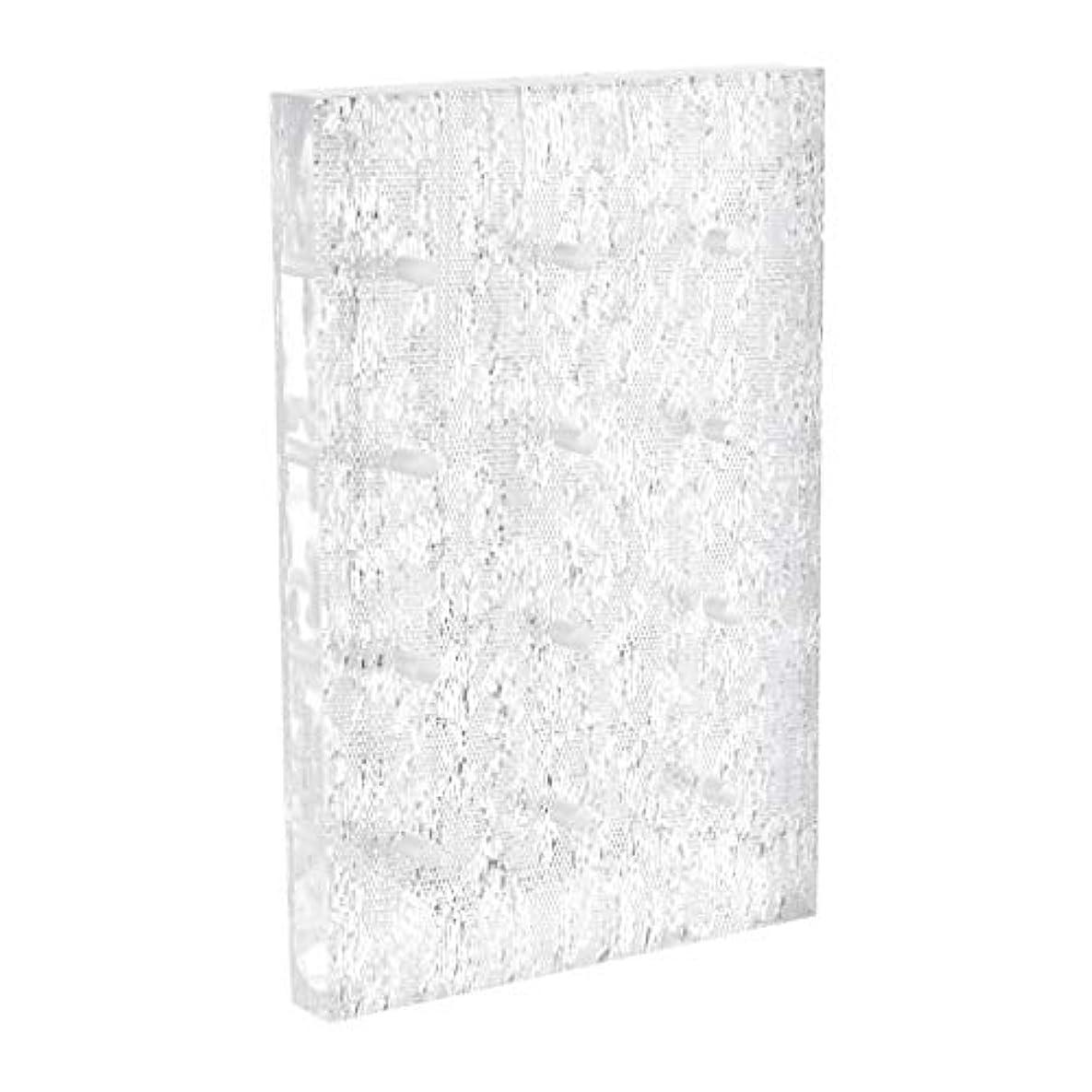 誠実ペッカディロマントル高品質の長方形のアクリルネイルビットホルダースタンドディスプレイストレージオーガナイザー12爪ドリルビット - 銀