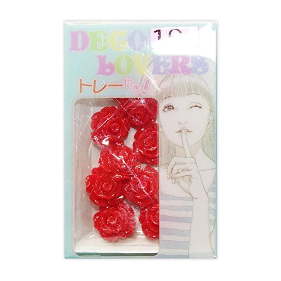 対処ダウンタウンご覧くださいラインストーン DL017/flower rosem red