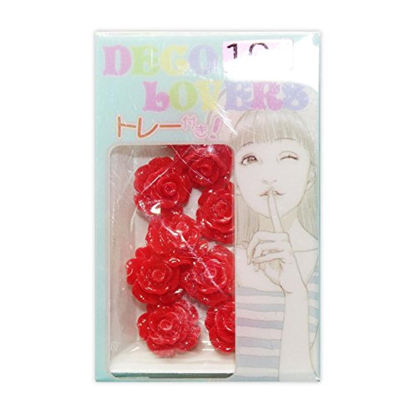 彫刻従者高いラインストーン DL017/flower rosem red