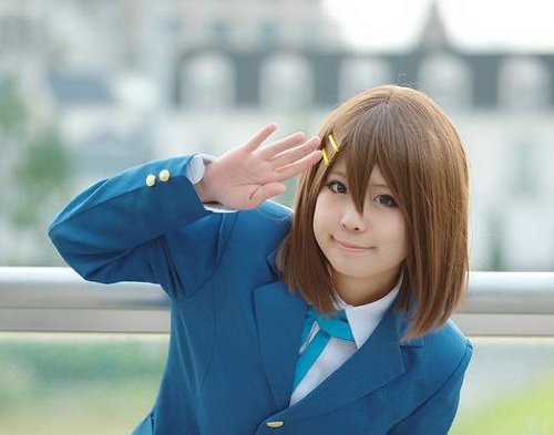 けいおん! 平沢 唯 ウィッグ ヘアピン ウィッグネット付 3点セット コスプレ 衣装 道具 K-ON!