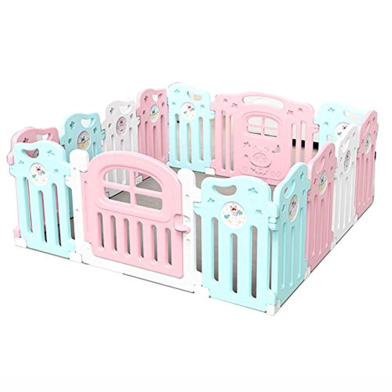 アクティビティプラスチックパネル、幼児の子供の安全な再生ヤードゲームセンター、ホーム屋内の屋外の子供教育玩具ルームデバイダ (色 : 12+2 Panel)