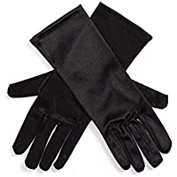 Utopiat Audrey Style Mini Black Satin Opera Gloves Girls Inspired by BAT's