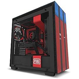 NZXT H700 PUBG ミッドタワー コンピューターケース レッド/ブルー (CA-H700B-PG)