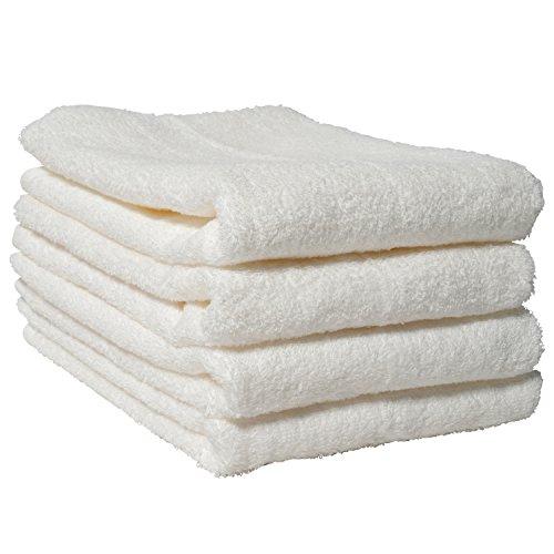 hiorie(ヒオリエ) ホテルスタイルタオル ミニバスタオル 4枚セット オフホワイト(選べる18色) 日本製 瞬間吸水 ビッグ フェイスタオル