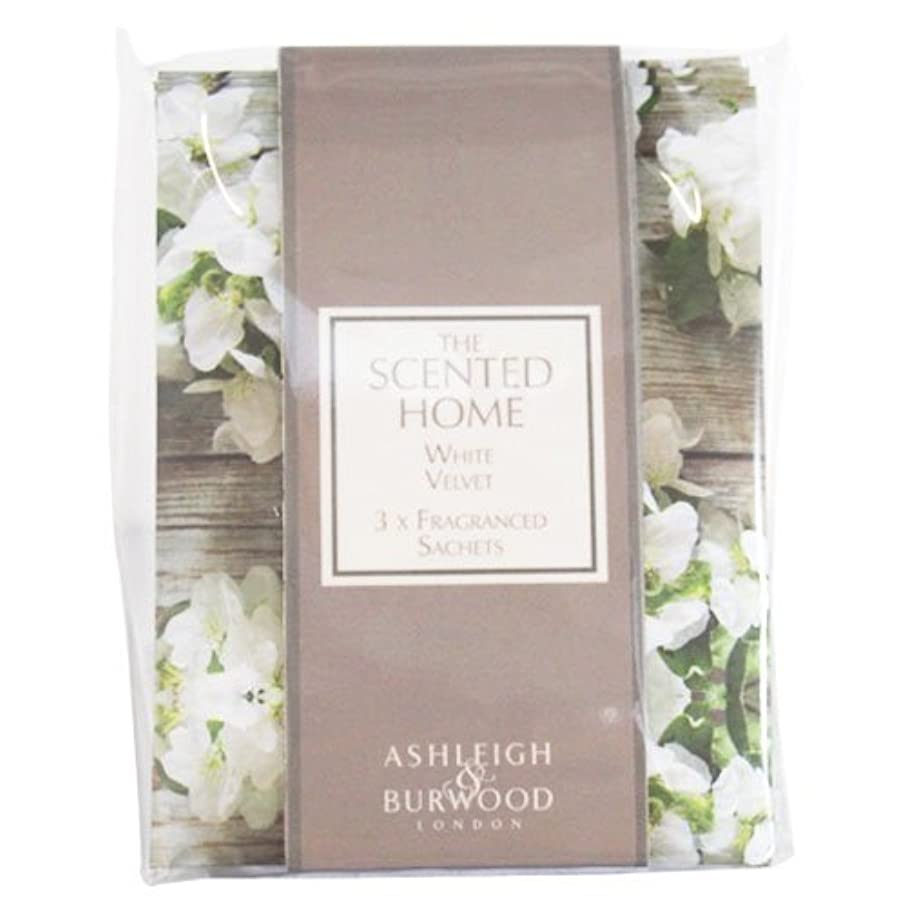 まっすぐ職業支店Ashleigh&Burwood サシェ×3個 ホワイトベルベット Sachet×3 White Velvet アシュレイ&バーウッド