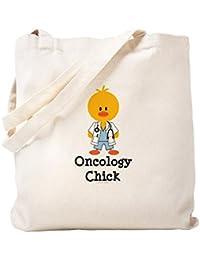 CafePress – Oncology Chick Tote Bag – ナチュラルキャンバストートバッグ、布ショッピングバッグ S ベージュ 0411691085DECC2