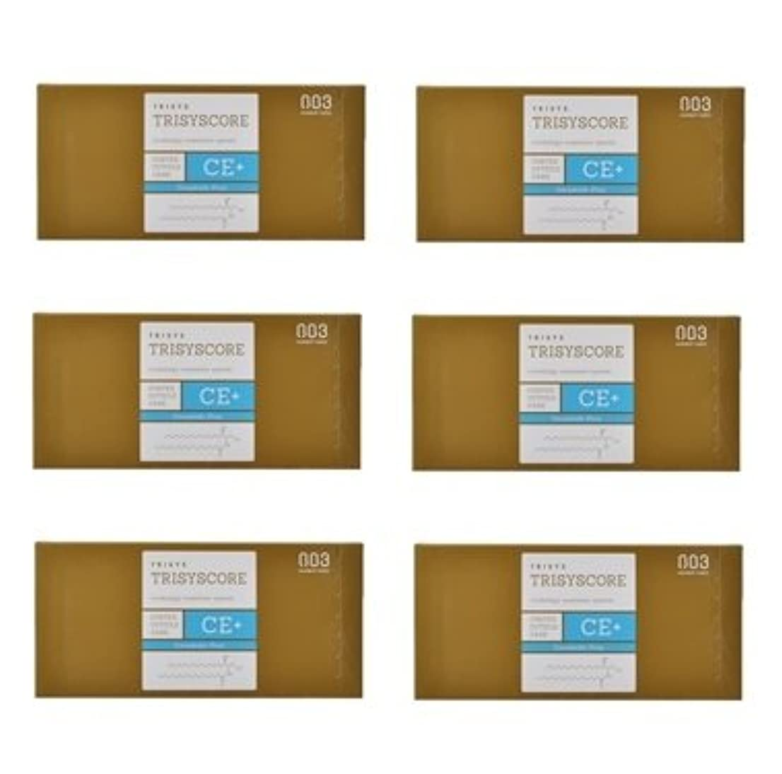 厚さ足首協力する【X6個セット】ナンバースリー トリシスコア CEプラス (ヘアトリートメント) 12g × 4包入り