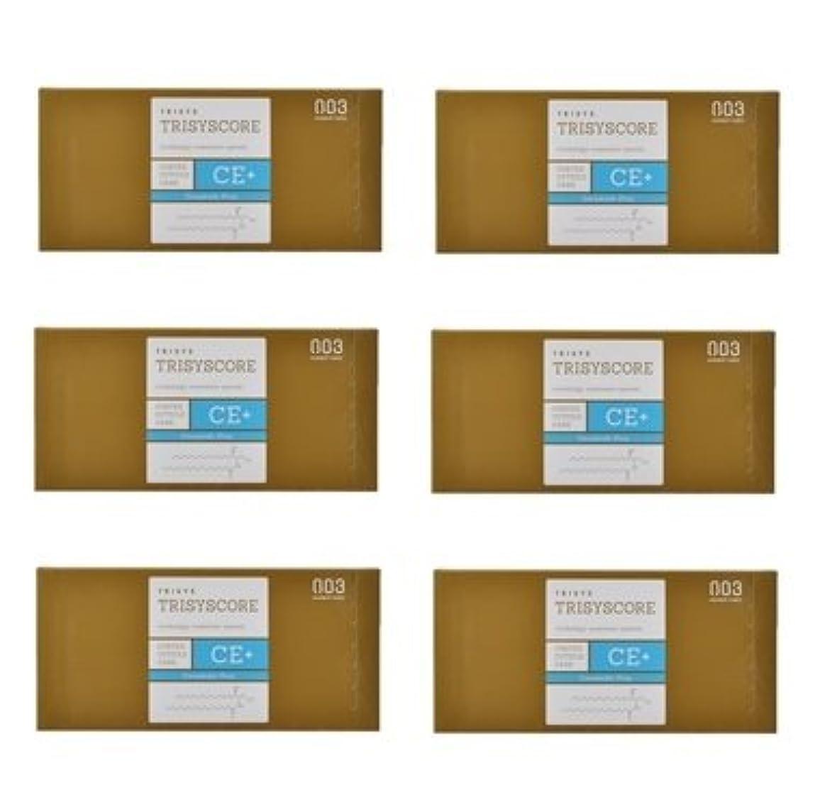 遠征氏満足できる【X6個セット】ナンバースリー トリシスコア CEプラス (ヘアトリートメント) 12g × 4包入り