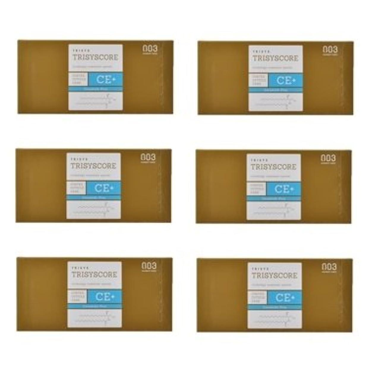 注文ぴったり推定する【X6個セット】ナンバースリー トリシスコア CEプラス (ヘアトリートメント) 12g × 4包入り
