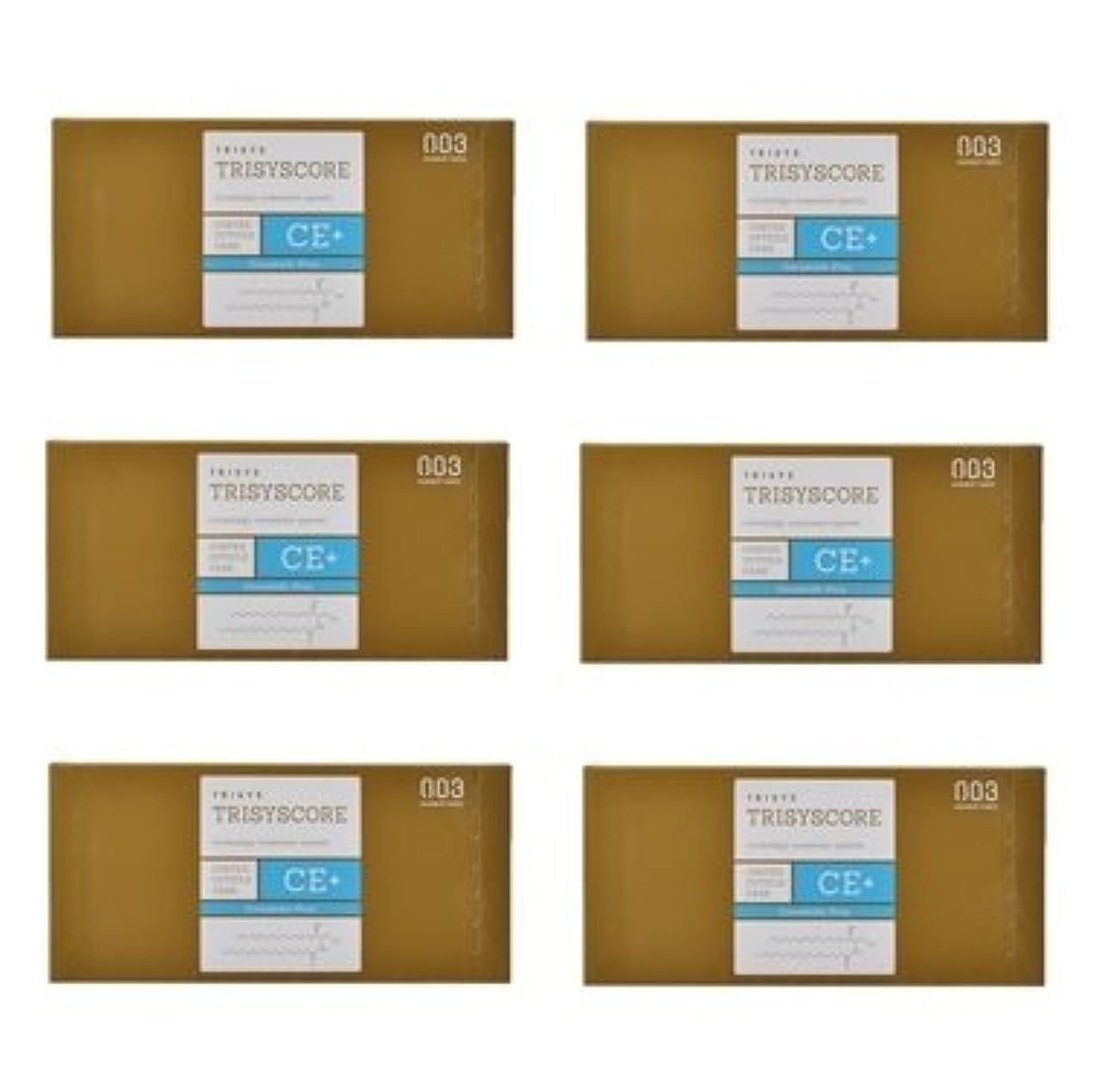 カエルバラエティトライアスロン【X6個セット】ナンバースリー トリシスコア CEプラス (ヘアトリートメント) 12g × 4包入り