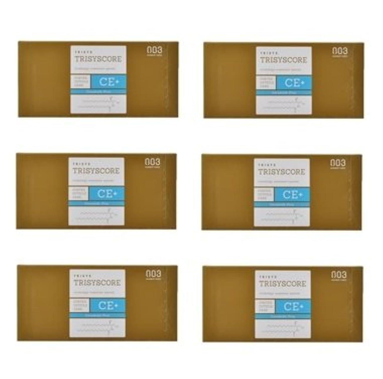テンション解釈拍手【X6個セット】ナンバースリー トリシスコア CEプラス (ヘアトリートメント) 12g × 4包入り