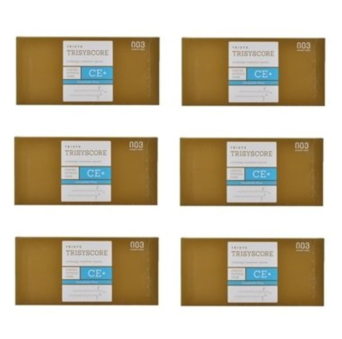 カバー化学薬品一掃する【X6個セット】ナンバースリー トリシスコア CEプラス (ヘアトリートメント) 12g × 4包入り