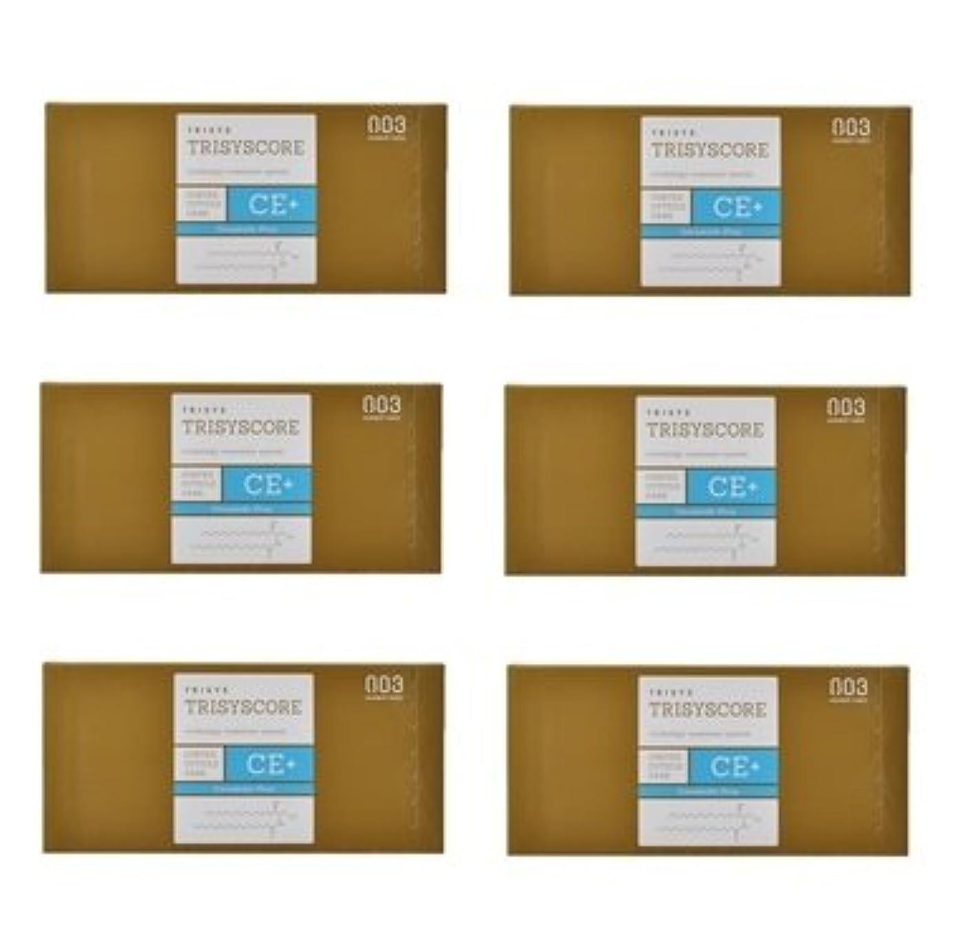 伴う好み通知する【X6個セット】ナンバースリー トリシスコア CEプラス (ヘアトリートメント) 12g × 4包入り