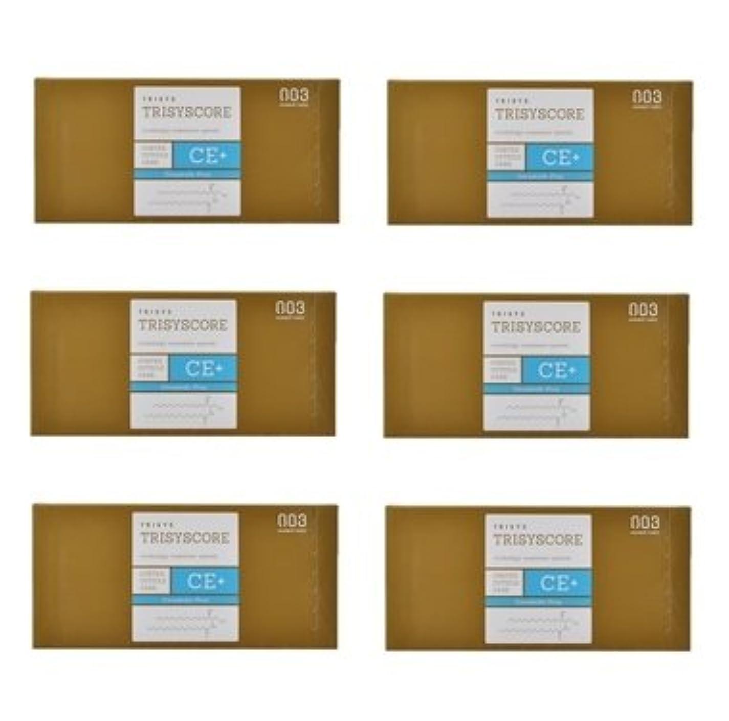 講師明確な古代【X6個セット】ナンバースリー トリシスコア CEプラス (ヘアトリートメント) 12g × 4包入り