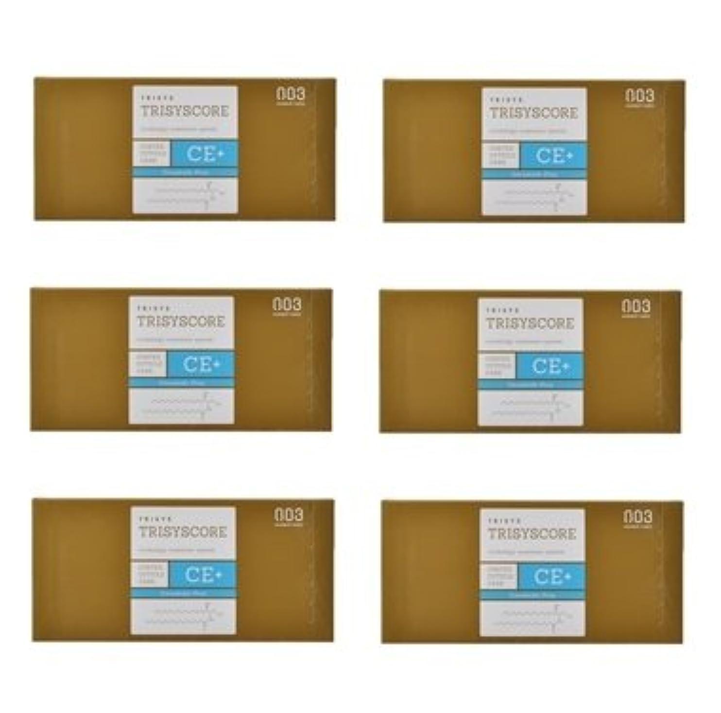 物理的ななくなるマーキー【X6個セット】ナンバースリー トリシスコア CEプラス (ヘアトリートメント) 12g × 4包入り