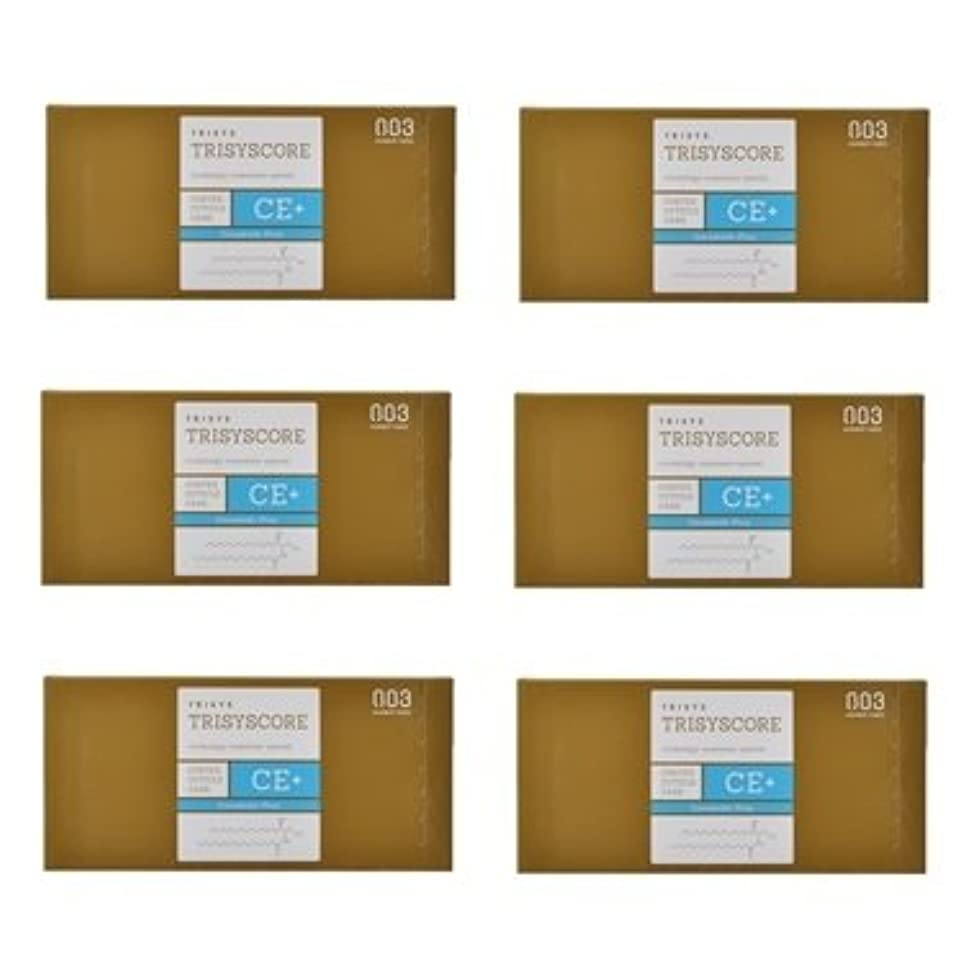 静脈小麦粉回復【X6個セット】ナンバースリー トリシスコア CEプラス (ヘアトリートメント) 12g × 4包入り