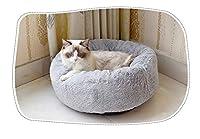 ペットの猫リッター、冬の暖かいペット、ロングぬいぐるみのテディーパピー (Color : グレー)